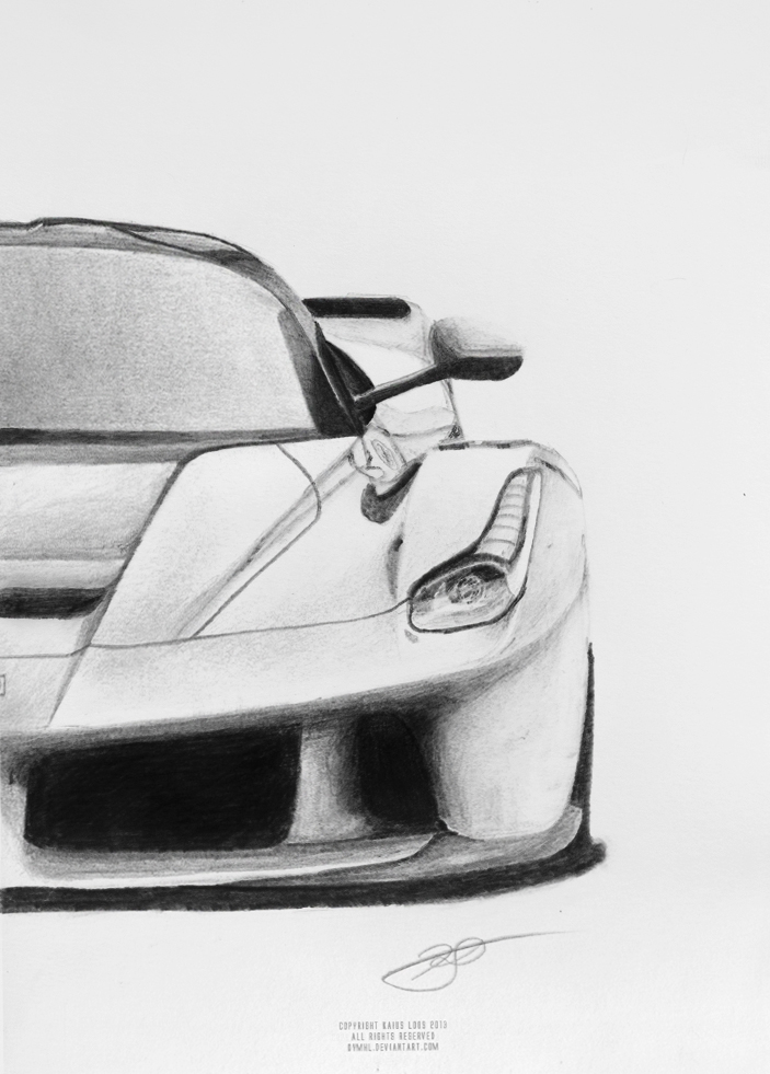 how to draw a laferrari