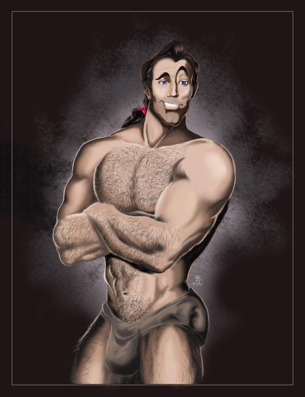 Sexy Disney Boys Disney_Vilains___Gaston_by_Lcslayer