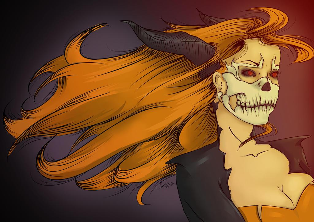 Skull Girl by Kireikaizoku