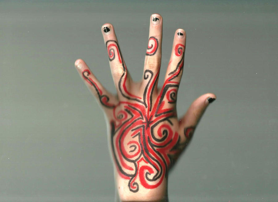 Sharpie hand design by animebecca666 on deviantart for Cool designs to draw on your hand