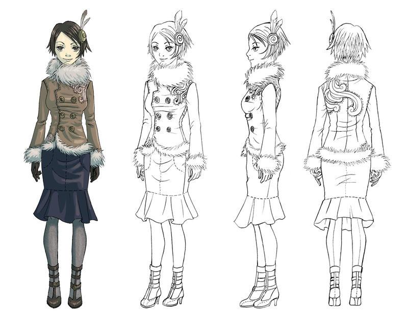 Character Design In Blender : Model sheet by livanya on deviantart