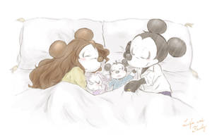 Count Mickey and his family by chumo824