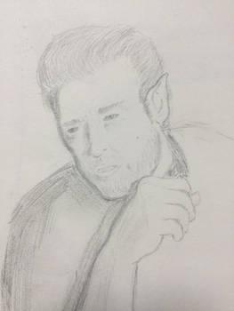 WIP Sketch: Barrett from Defying Certain Death