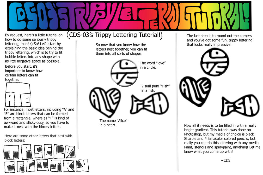 Trippy Lettering Tutorial By CDS 03