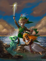 Link and the Ladies by Warpzonestudios