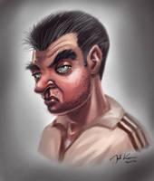 Mob man (Quick Painting Study) by Warpzonestudios
