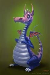 A Happy Dragon by Warpzonestudios