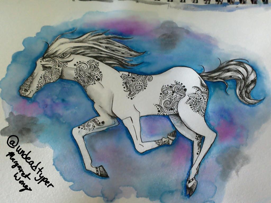 Swirly Horse by undeadtyper