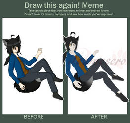 Redraw this meme - Floating by Jeamesero