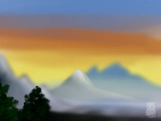 Bob Ross tryout painting
