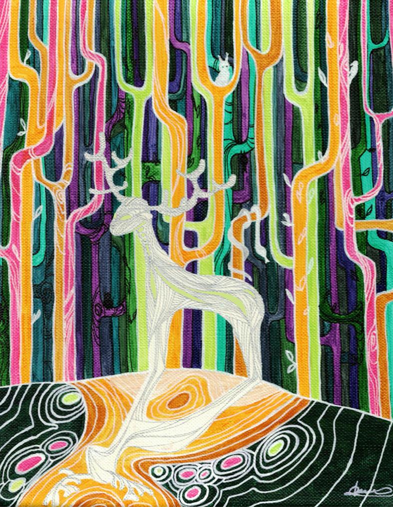 Forest god by Ondrejkova