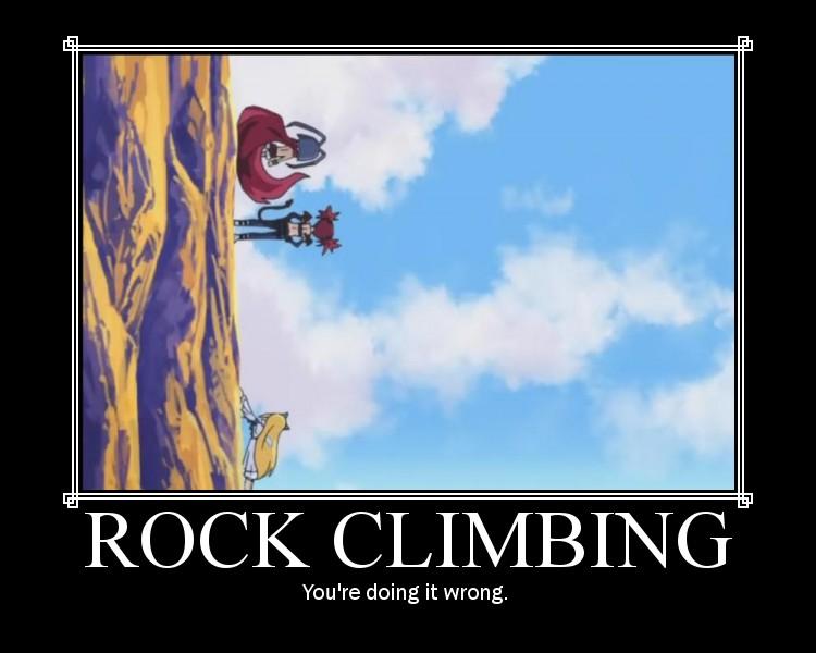 Rock Climbing by HellVampYami