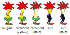 Custom Sideshow Bob sprite versions