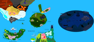 Rayman Chronicles World Map by boogeyboy1