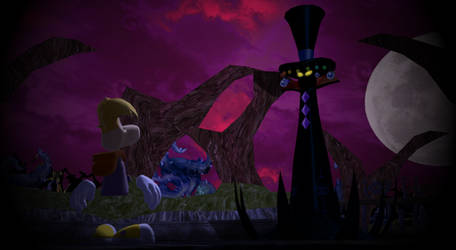 MMD: Rayman meets Mr. Dark