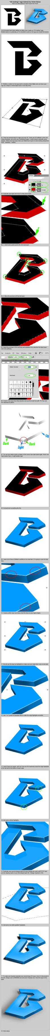 3D logo tutorial by victorbarac