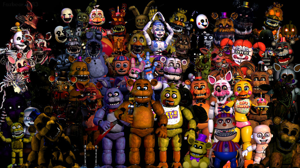 thank you all animatronics by fnafcontinued on deviantart