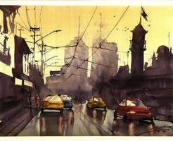 Miasto po deszczu by gaciu000
