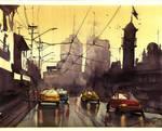 Miasto po deszczu