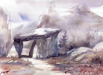 Lanscape, Rocks and Mountains by gaciu000