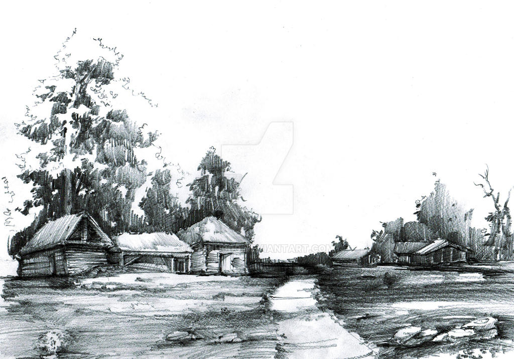 Landscape sketch by gaciu000