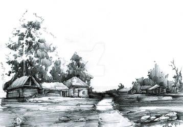 Landscape sketch by gaciu000