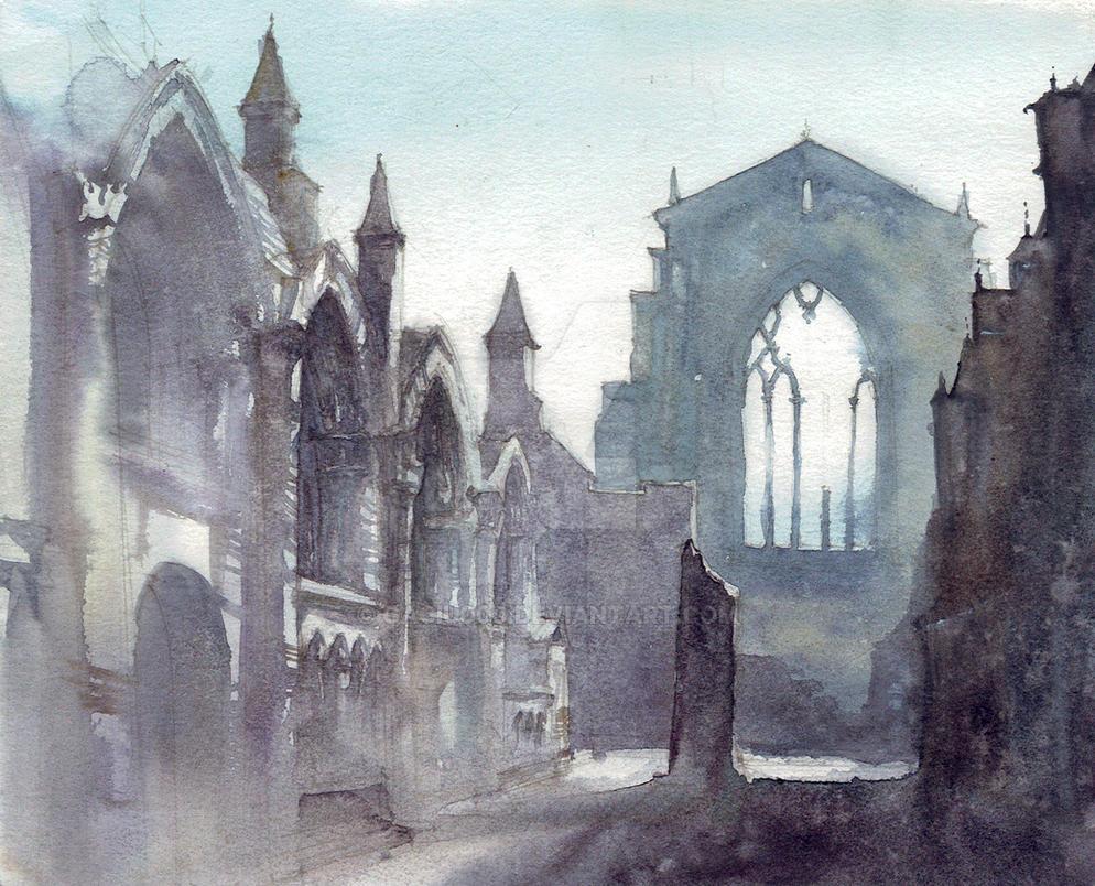 Watercolour Ruins by gaciu000