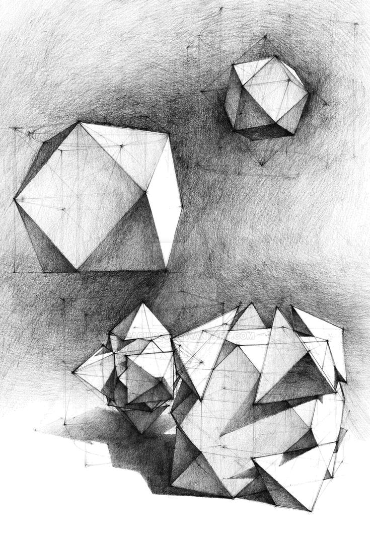 Geometry - Platonic solids modyfications by gaciu000 on ... Platonic Solids Art