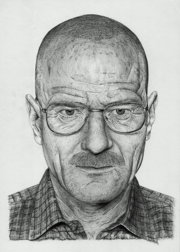 Walter White ( Bryan Cranston) bic pen portrait by BORJICH