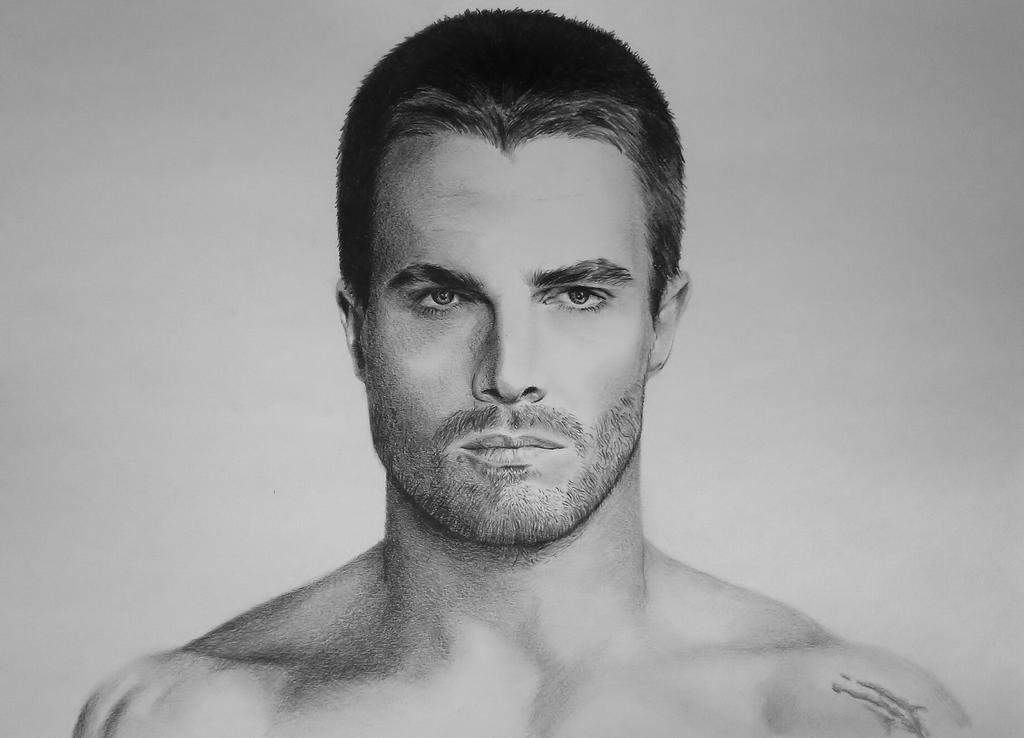 Image gallery oliver queen drawing for Black and white shows