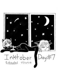 Day #7 - Exhausted [Inktober 2018]