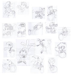 Blur characters sketch