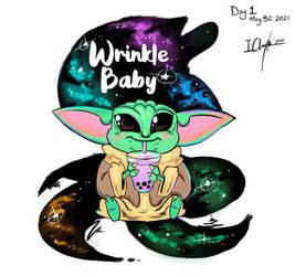 Wrinkle Baby Yoda