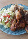 Cola-chicken with rice and salad (DOWNLOAD RECIPE) by roxan1930