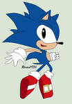Classic Sonic (Group project) by roxan1930