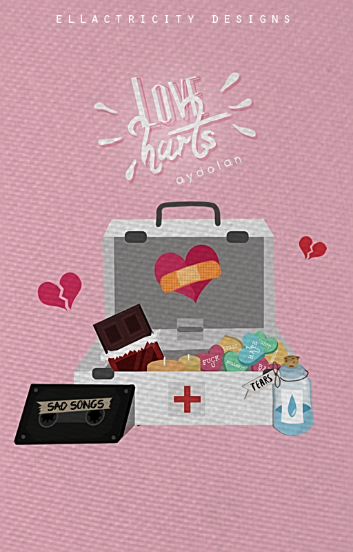LOVE HURTS - WATTPAD COVER by AdmireMyStyle
