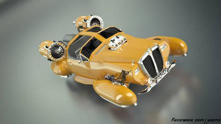Retro Hover Car