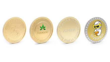 Cryptocurrency coins by aXel-Redfield