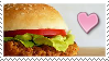 Spicy Chicken Burger Stamp by Weapons-Expert-Cool