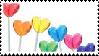 Lollipop Hearts Stamp