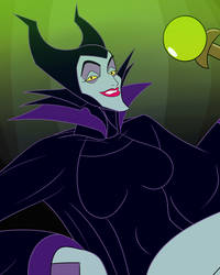 Halloween Pin-Up #29  Maleficent by creepycurse