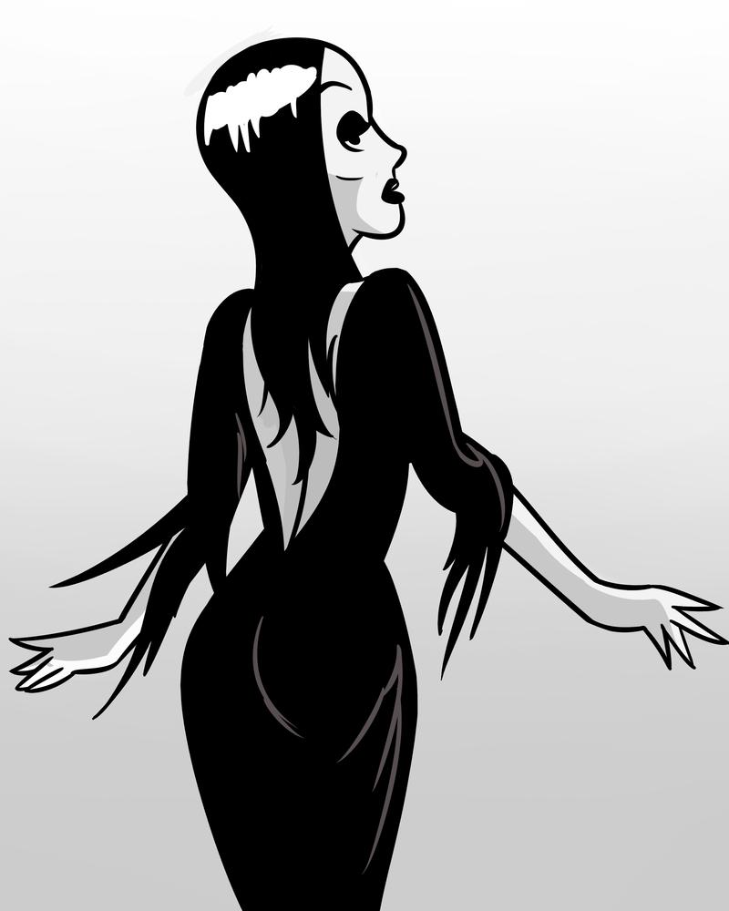 halloween pin-up #31 morticiacreepycurse on deviantart