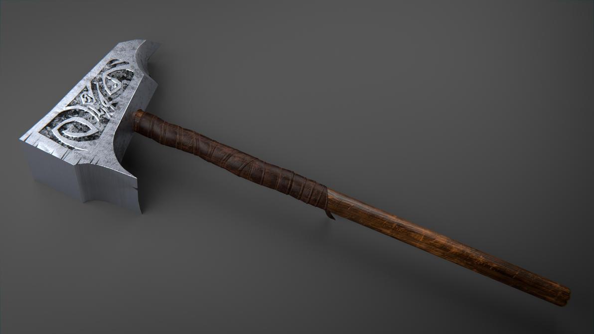 Battle Hammer by Nikola3D on DeviantArt