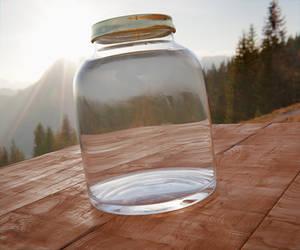 Glass jar by Nikola3D