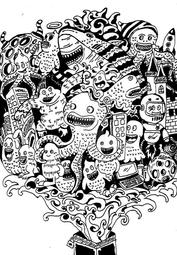 Ilustrasi Doodle by zhie87
