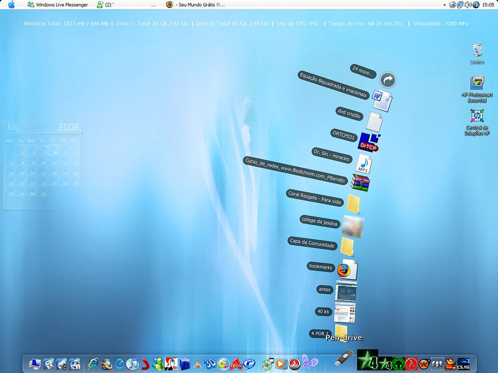 my Desktop Fake Mac by Designerzin