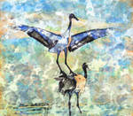 Digital Painting: A Thousand Paper Cranes