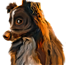 Digital Painting: Fido's Lost Thoughts
