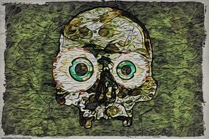 Digital Painting: Map of Skulls by UkuleleMoon