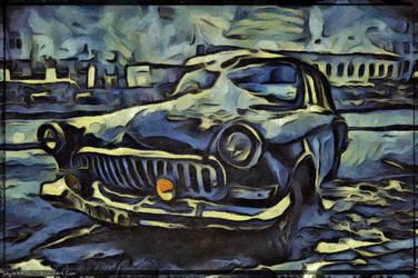 Digital Painting: The Car by UkuleleMoon